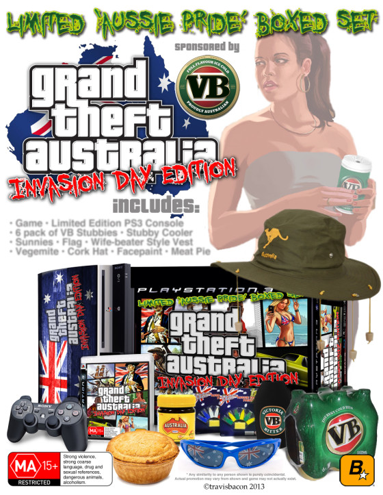Grand Theft Australia: Invasion Day Edition – 'Aussie Pride' boxed set…