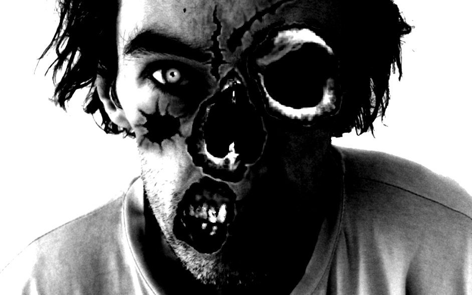 zombie trav waiting dor the walking dead dinnertime